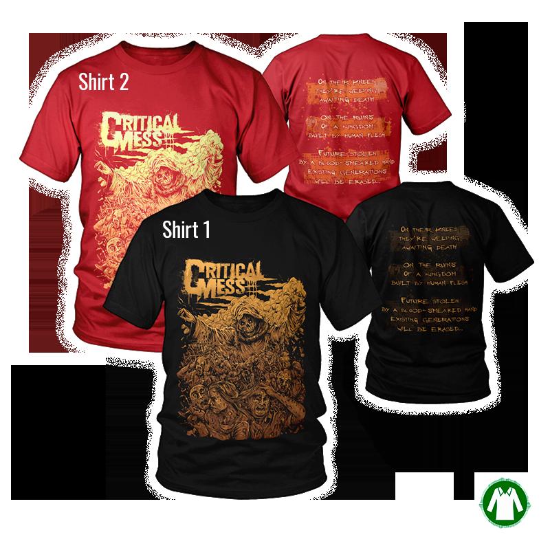 "Double decker ""T-Shirt Bringer Black + T-Shirt Bringer Red"""