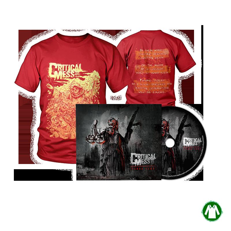 "Savings package ""T-Shirt Bringer Red + Digipak Human Præy"""